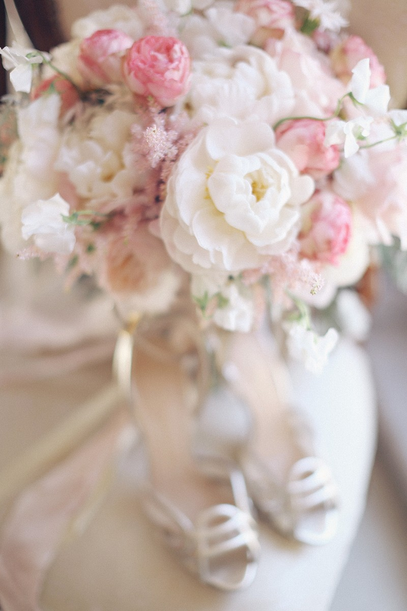 delicate bridal boudoir